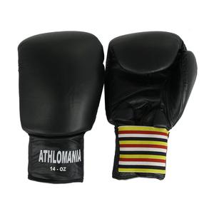 Evolution Fitness Επαγγελματικά Δερμάτινα Γάντια Πυγμαχίας 16 Oz KG556 Black